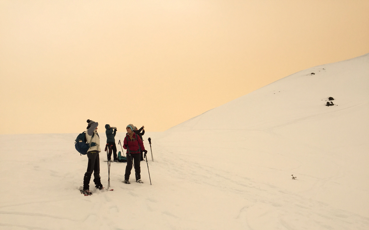BergFrau Winterwanderung Saharastaub, Sturm 05.feb.21