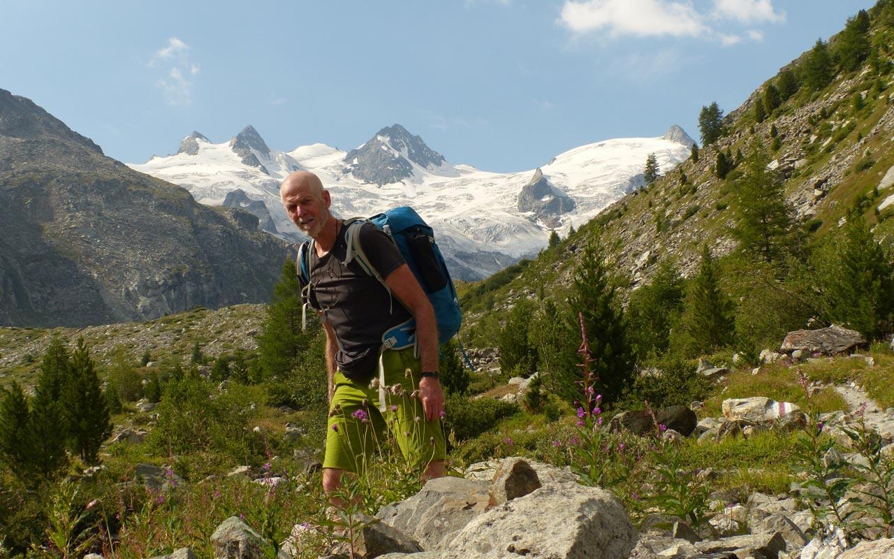 Mehrtage-Wanderung Graubünden. Gletscher Sella und Roseg