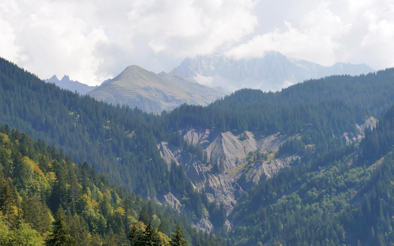 Wandern Prättigau von Schuders nach St. Antönien