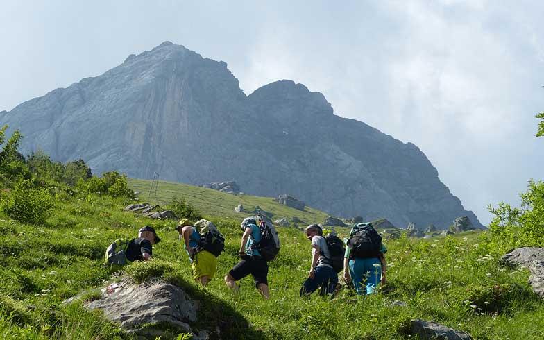 Frauen Wandern Obwalden Bannalp Engelberg